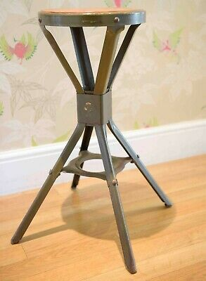 British Factory Stool Manufactured In Birmingham By Evertaut .1950'S