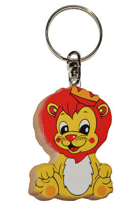Keychain - Lion / Small Prince - Very Stable Made Lacquered Wood - Anh