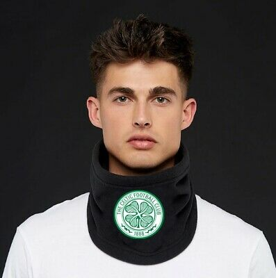 Celtic FC Mens Sport Scarf Gift Christmas Neck Warmer Face Mask Snood