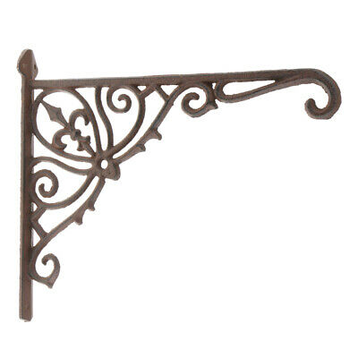 Decorative Shelf Bracket Ornate Cast Iron Right Angle Wall Brace Shelf Bracket L