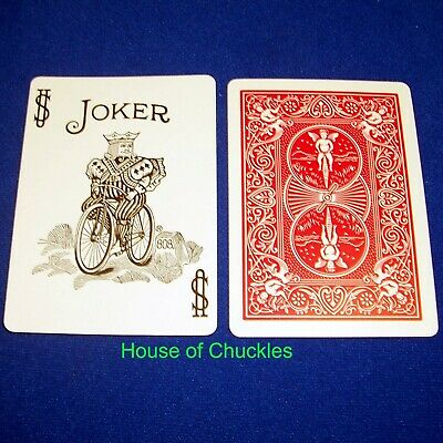 (100) One Way Force Cards, Black White Joker, Red Bicycle Forcing Magic Trick