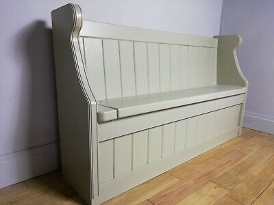 Monks Bench - Settle - Church Pew - 4/5/6/7 ft - Any Farrow & Ball Paint Formby