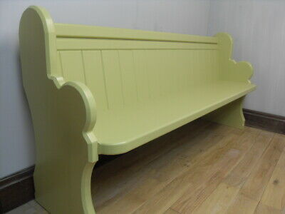 Church Pew / Bench - 4/5/6/7 ft - Any Farrow & Ball Colour - Grey, Cream -Forest