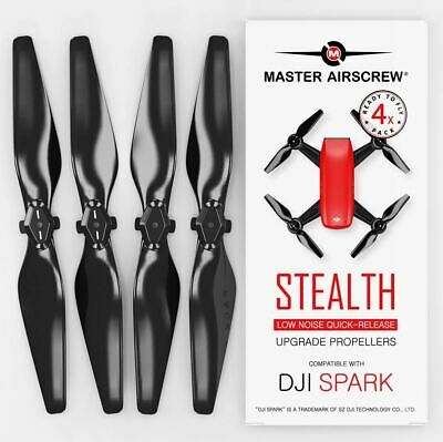 MAS DJI Spark STEALTH Upgrade Propellers - x4 Black