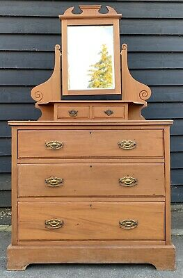 Edwardian Dressing Chest With Swing Mirror