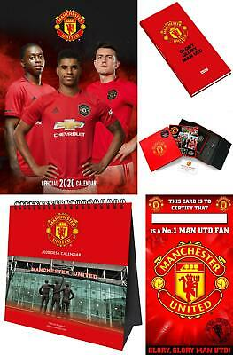 Calendar Manchester United FC 2020 A3 Easel Diary Greeting Cards Football Soccer