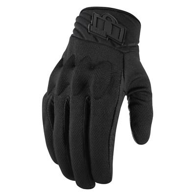 Choose Size Black Icon MotoSports Women/'s Pursuit Leather Gloves CE Certified