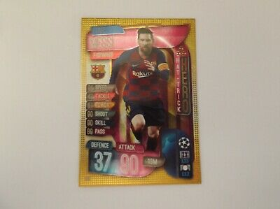 "Match Attax 19/20 ""LIONEL MESSI"" #315 HAT TRICK HERO Trading Card"
