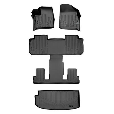 SMARTLINER Custom Fit Floor Mats 3 Rows and Cargo Liner Behind 2nd Row Set Black for for 2020 Hyundai Palisade