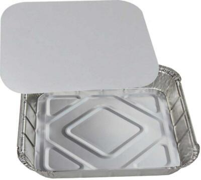 """GSL - 10 x Large Aluminium Foil Food Storage Containers Trays 9"""" x with..."""