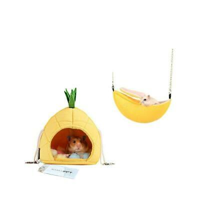 2 Pack of Hamster Bedding, Chinchilla Cage Accessories Pineapple & Banana