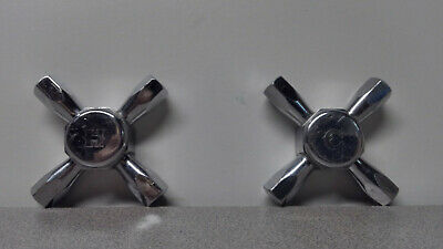 Vintage Faucet Handle Pair Hot and Cold