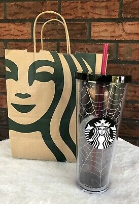 Starbucks 2019 Halloween Glitter Spiderweb Limited Edition Tumbler Cup Fall New