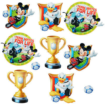 "10 Parties Set _ Sticker Mural / - "" Mickey Mouse - Football "" - Muraux"