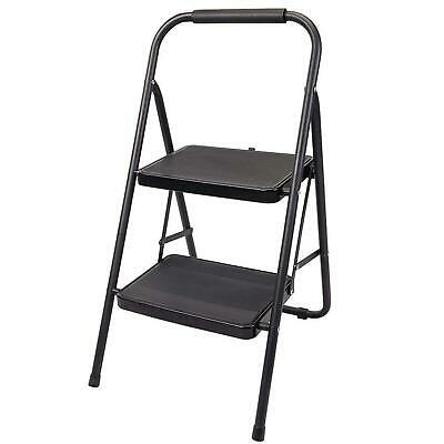 Heavy Duty Step Folding Ladder Stool Double Strong Steel Anti Slip Safety Stool
