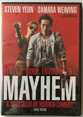 Mayhem :Steven Yeun (BRAND NEW DVD Sealed See Pictures!)