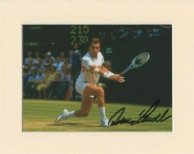"Ivan Lendl Tennis Wimbledon Original Signed 10X8"" Mounted Autograph Photo COA"