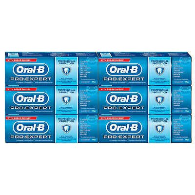 Oral-B Pro-Expert Professional Protection Clean Mint Toothpaste, 6 x 75ml