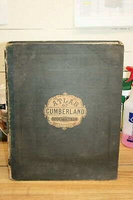 Antique 1871 F.W, Beers & Co. Atlas of Cumberland County Maine