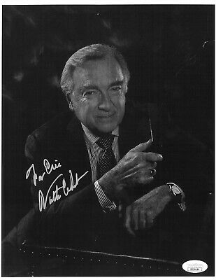 Walter Cronkite signed B&W 8.5x11 Photo To Eric minor surface scratch- JSA Holo