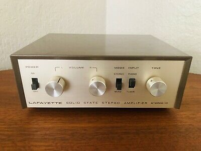 Vintage Lafayette Stereo 10 Solid State PHONO Amplifier Simple Amp NICE WORKS