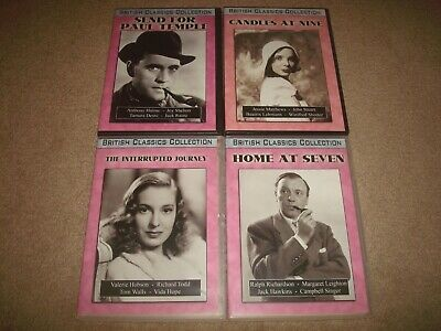 British Classics Collection DVD LOT Candles at Nine Home Seven Paul Temple Film