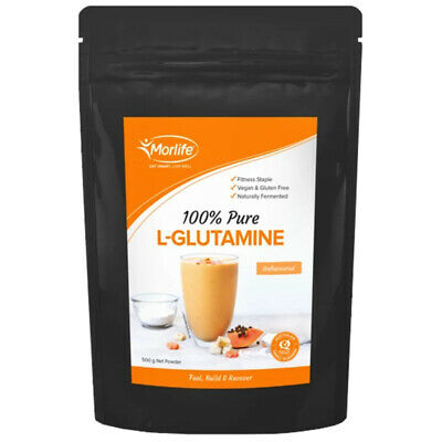 MORLIFE L-GLUTAMINE PURE POWDER MICRONISED MUSCLE RECOVERY SUPPLEMENTS 500g