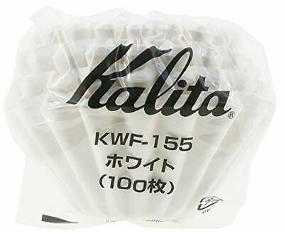 Kalita Wave Drip Filter WHITE KWF-155 100 Sheets #22213 22213 For 1 - 2 Cups JP