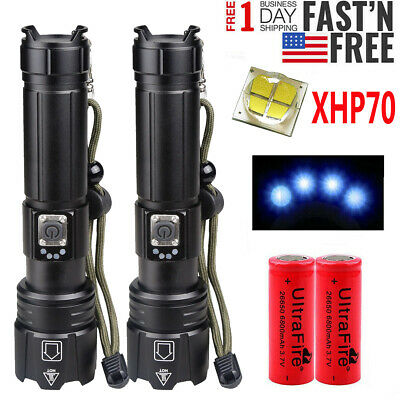 2 x ∅7 Magnet For LED Flashlight Flat Top Rechargeable Battery 18650, 26650