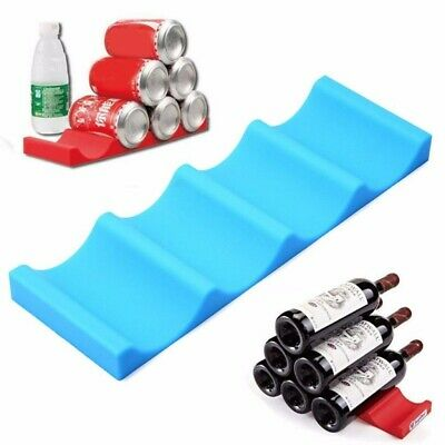 1/2x Lightweight Portable Fridge Can Beer Wine Bottle Rack Mat Stacking Tidy
