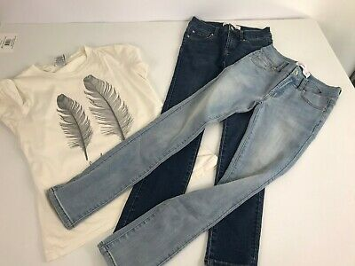 NEW Just Jeans girls size 10 skinny leg jeans x 2 and Ghanda t-shirt