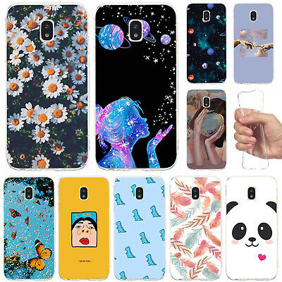 For Samsung Galaxy J3 J5 J7 2017 Slim Soft Silicone Painted Clear TPU Case Cover