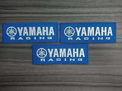 3 pcs YAMAHA Racing MOTORCYCLES Biker Iron on Patches Embroidered Sewn on Jeans