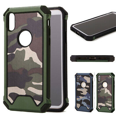 Boys Cool Army Camo Camouflage Shockproof Hard Case Cover For iPhone XS XR 7 8 6