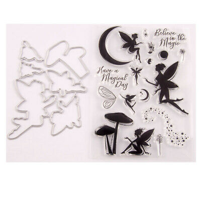 CLARITY STAMP GROOVI Parchment Embossing Plate FAIRY ENCHANTMENT ROUND 40948