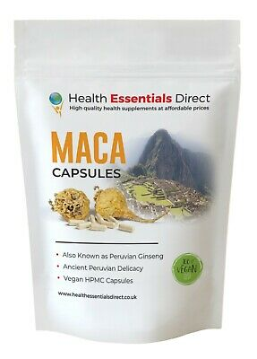 Organic Maca Capsules - PURE & STRONG 700mg ROOT! Clean Caps (Fatigue, Libido)
