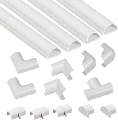 D-Line Mini Cable Trunking Multipack | Self-Adhesive (30x15mm), White