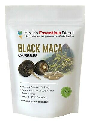 Organic Black Maca Capsules *Gelatinised* PURE 700mg of ROOT! (Fatigue, Libido)