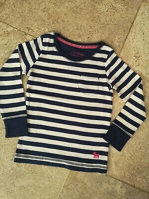 New Boden Navy Stripe Everyday Top Age 3-4