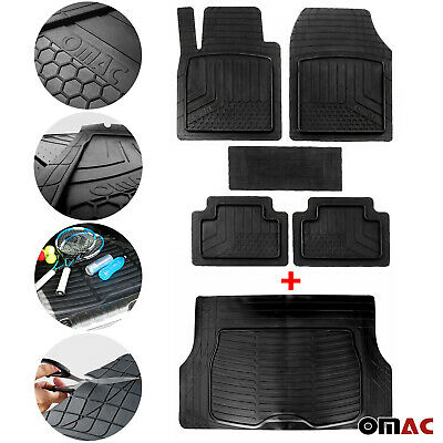 Waterproof Rubber 3D Molded Fit Floor Mats & Cargo Liner Protection SET for Ford