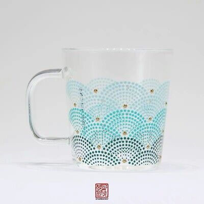 New Starbucks 2019 China Anniversary 12oz Scale Gradation Glass Cup Mug