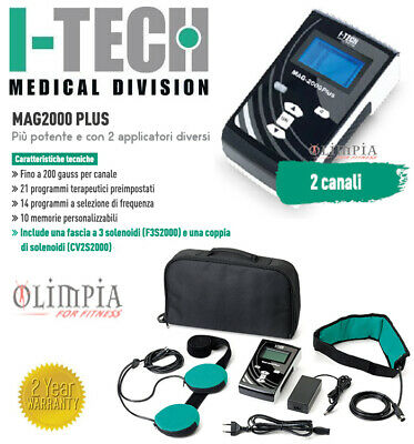 I-TECH - MAG2000 Plus Magnetoterapia BASSA FREQUENZA - ALTA INTENSITA' 2canali