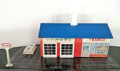 1960 TEXACO TOY SERVICE STATION REPLICA METAL SIGN NOT ACTUAL TOY GAS STATION!