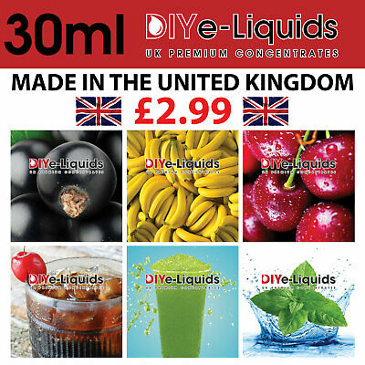 E Liquid Flavour Concentrate 30 Mil Flavouring High Strength Premium DIY VAPE