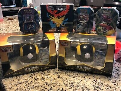 3x Pokemon Hidden Fates Poke ball Collection Brand New Sealed in Box