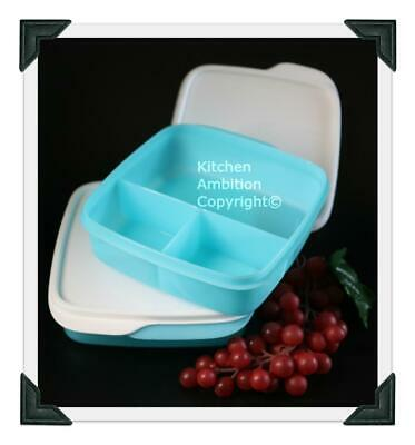 Brand New TUPPERWARE Lunch-It® Container Set/2 Perfect Portion Divided Dish Bowl