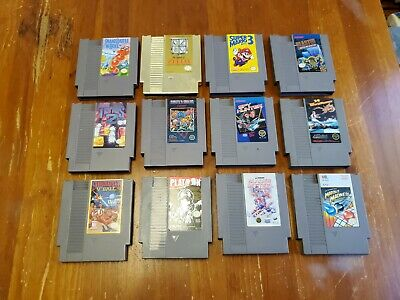 Nintendo NES Game Lot Of 12 Cartridges Authentic | ZELDA | MARIO 3 | TETRIS 2