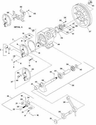 Ingersoll Rand 253 compatible Crankshaft Assembly with Bearing 30211593 #Ref 35