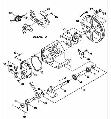 Ingersoll Rand 2475 compatible Crankshaft Assembly w Bearing 32293565 ref #2