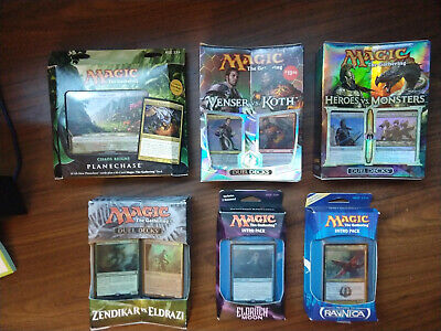 Sealed Magic Decks MTG NEW 3 different dual decks, 1 planechase, 2 intro packs.